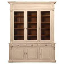 antique french limed oak bookcase or bibliotheque at 1stdibs
