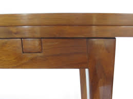 edward wormley for dunbar flip top console table in walnut for