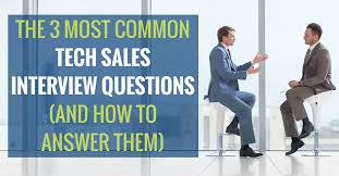 How To Answer Resume Questions The 3 Most Common Tech Sales Interview Questions And How To