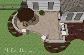 Cheap Backyard Patio Designs Corner Patio Designs For 8 U0027