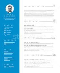 Minimalist Resume Minimalist Resume Cv Template With Nice Typography Vector