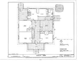 American House Floor Plan by Historic Farmhouse Floor Plans Collection American American