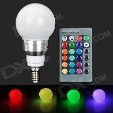 rgb led light controller yuin05 e14 3w 180lm led rgb light bulb w remote controller 85 265v