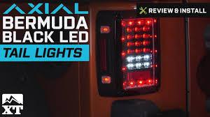 jeep jk led tail light bulb jeep wrangler axial bermuda black led tail lights 2007 2018 jk