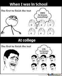 College Test Meme - test by dele meme center