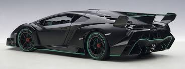 Lamborghini Veneno Black - lamborghini veneno nero nemesis matt black 1 18 by autoart 74505