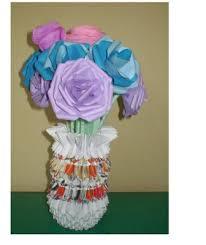 3d Flower Vase 3d Origami Vases