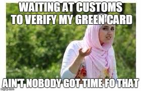 Green Card Meme - confused muslim girl imgflip