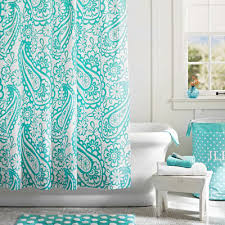Turquoise Shower Curtains Garden Paisley Shower Curtain Everything Turquoise Home Decor