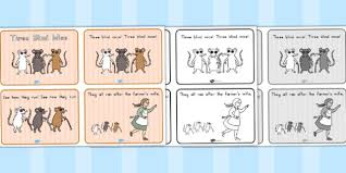 Blind Story Blind Mice Story Sequencing 4 Per A4 Sequence Mouse