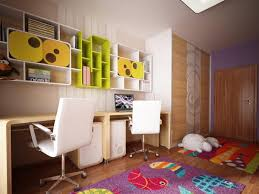 Bedroom Ideas Purple Carpet Modern Kids Rooms Ideas Bedroom Yellow Minimalist Stained Wood Bed