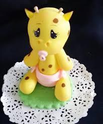 giraffe cake topper giraffe cake topper baby giraffe with and picifier in blue