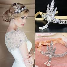 great gatsby hair accessories charming bridal headbands great gatsby style silver clear