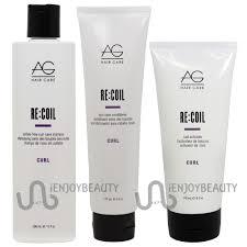 ag hair recoil re coil shampoo 10oz conditioner 6oz activator