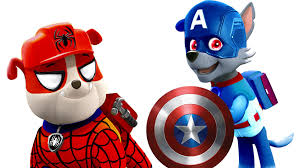 paw patrol spider man captain america coloring pages spider man