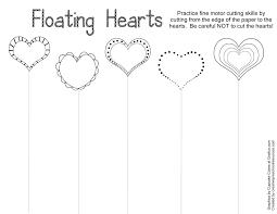 valentine trace u0026 cut printables creative preschool resources