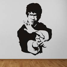 bruce lee martials arts icons celebrities wall stickers home bruce lee martials arts icons celebrities wall stickers home decor art decals