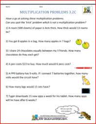 multiplication word problem worksheets 3rd grade