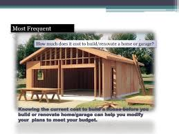 Home Plans And Cost To Build by Garage Appeal How To Build A Garage Design Draw Your Own Garage