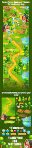 The Forest Game Map Farm And Forest Tileable Seamless Vertical Game Map By Ververver