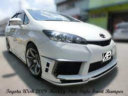 nissan almera nismo bodykit toyota wish 2009 modify thai style front bumper custom body kits
