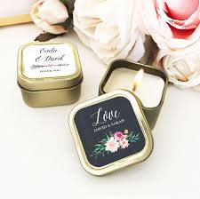 candle favors gold wedding favors custom candle wedding favors personalized
