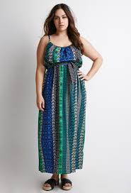 forever 21 plus size belted print maxi dress lyst