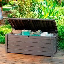 keter brightwood outdoor garden storage bench box buy sale