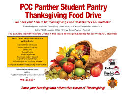 donate to pcc student thanksgiving basekts this season