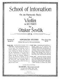 of intonation on an harmonic basis for violin op 11