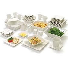 Corelle Dishes Ebay Diffusion 16 Piece Square Dinner Set Plates Mugs Bowls Black