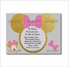 personalized minnie mouse invitations aliexpress com buy 20 pcs lot minnie mouse gold glitter custom