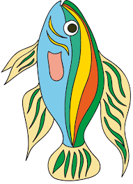 image poisson exotique a imprimer tête à modeler