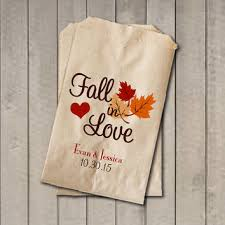 wedding favor bags fall in love favor from getthepartystarted on