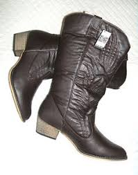womens cowboy boots ebay uk womens size uk 10 11 43 44 brown cowboy line