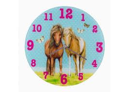 horloge chambre bébé horloge murale petits poneys chambre enfant cadeau casa shopping