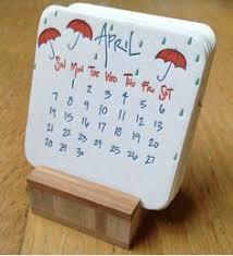 Small Easel Desk Calendar Calendar 2013 Mini Doodle Desk Calendar With Wooden Easel Via Etsy