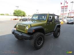 2007 green jeep wrangler 2007 jeep wrangler x 4x4 in rescue green metallic photo 3