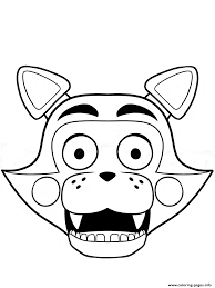fnaf freddy five nights at freddys foxy coloring pages printable