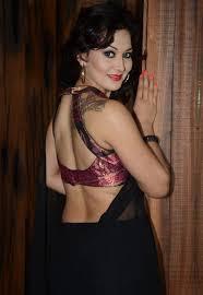 nico in black colour transparent saree