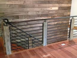 Steel Banister Rails Reclaimed Wood And Steel Railing Industrial Staircase Other