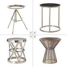 Metal Accent Table Incredible Round Metal Side Table With Metal Round Side Table