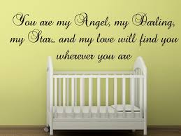 73 best quote phrase wall stickers decals images on pinterest nancy tillman quote you are my angel my darling my star and my love will find you wherever you are all our wall stickers decals are available in a