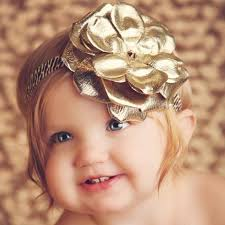 gold headbands metallic gold flowerette burst leopard baby headband gold