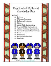 Backyard Football Rules Flag Football Unit Physical Education Rules Strategy Rubric