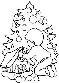 printable christmas pictures children colour