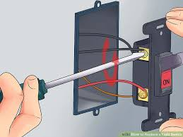 how to replace a light switch with a dimmer 3 ways to replace a light switch wikihow