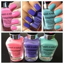 gorjess nails pastels u003c3 wet n wild megalast nail polish