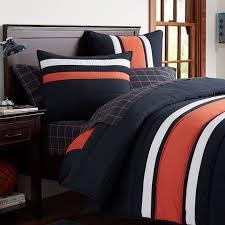 blue and orange bedding speedster stripe comforter sham pbteen