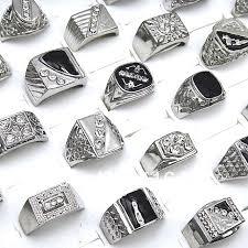 mens rings for sale hot sale 10pcs wholesale fashion jewelry rhinestones enamel
